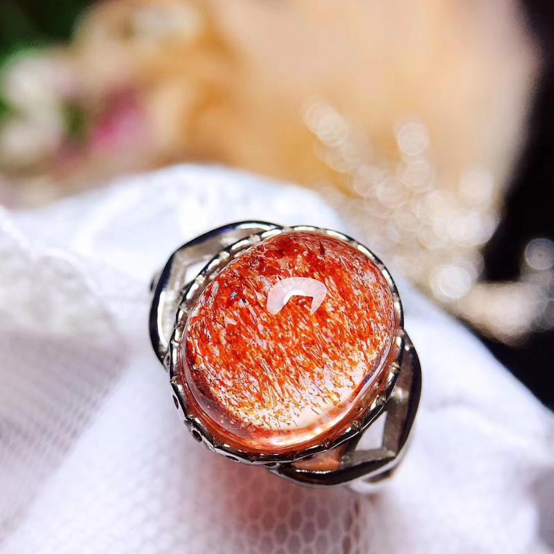 天然超七金草莓戒指,稀有聚宝盆,旺姻缘