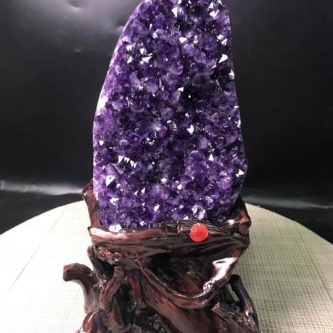 紫晶蔟-精品天然紫水晶块摆件,乌拉圭深紫,3kg图片