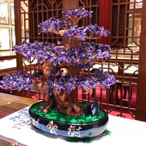 天然紫水晶招财水晶树摆件,适合新家,旺风水图片