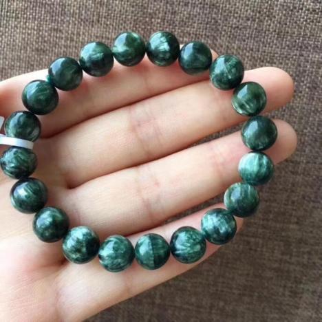 绿龙晶,精品天然绿泥石手链,9MM图片