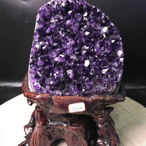 精品天然乌拉圭紫晶簇,紫水晶片,4.5kg图片