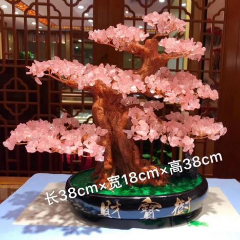 天然粉水晶树,招财助姻缘,爱情事业双丰收图片