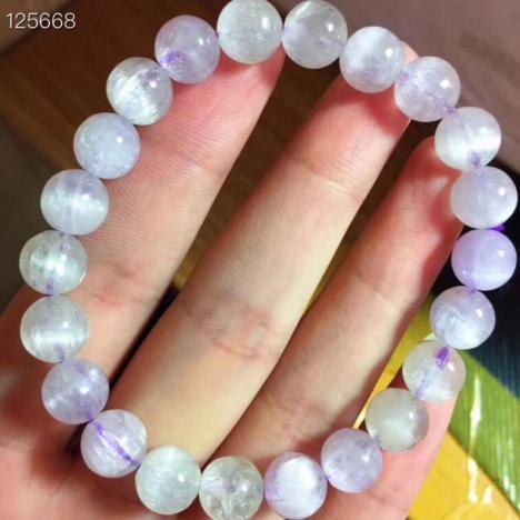 天然紫锂辉猫眼手链,8.3mm,水晶皇后图片