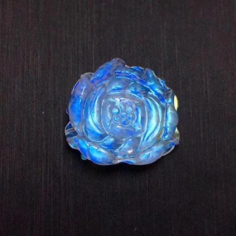 精品蓝月光石荷花吊坠,2.7克,恋人之石图片