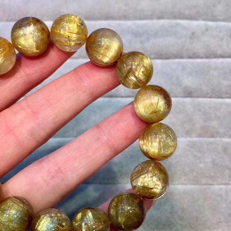 天然钛晶猫眼手链,13.5MM,55克,尊贵大气