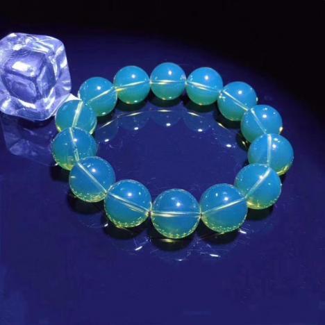 墨西哥蓝珀手串,净水品质,16mm,32.9克