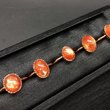 天然金太阳石手链手串,6mm,搭配天然蜜蜡吊坠图片