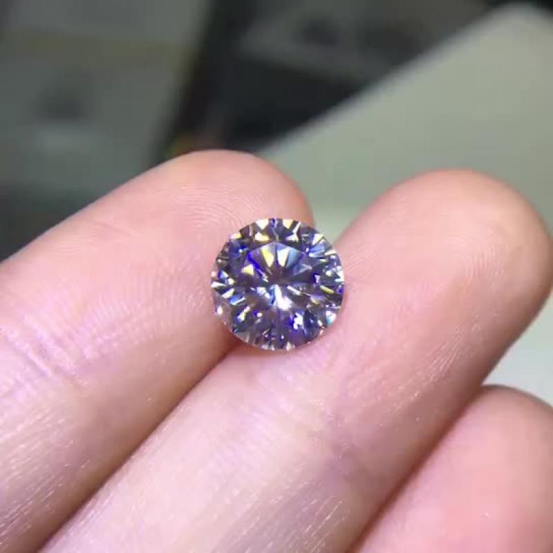 2.5克拉莫桑钻裸钻,D色,VVS