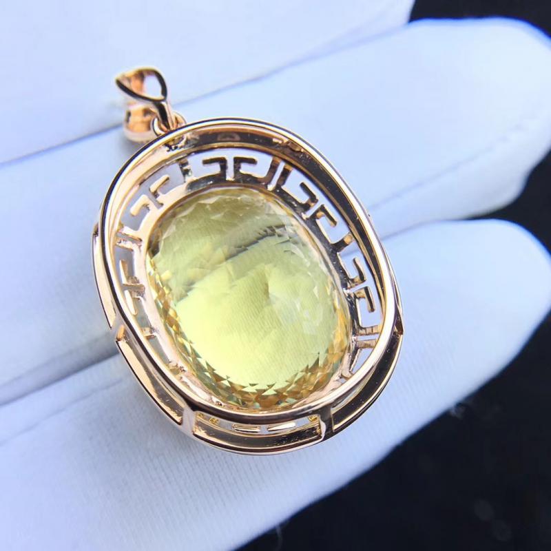 金绿柱石,大颗粒天然黄海蓝宝石吊坠,裸石23克拉
