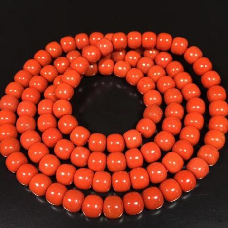 天然南红玛瑙佛珠手链项链,满肉满色,6MM图片