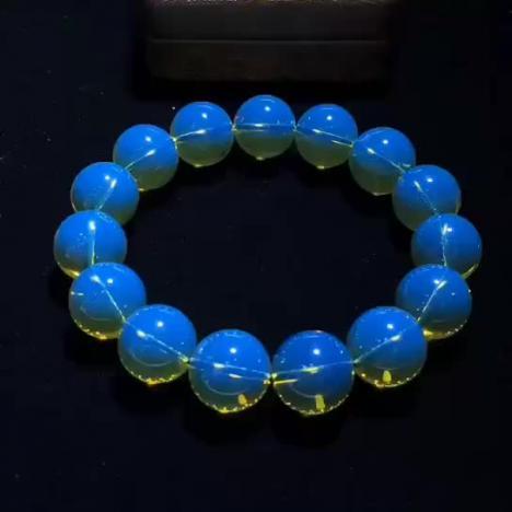 天然多米尼加蓝珀手串,琥珀收藏品