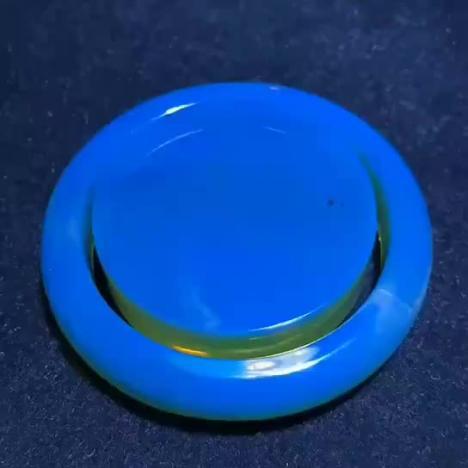 天然多米尼加蓝珀手镯,琥珀收藏品,圈口51