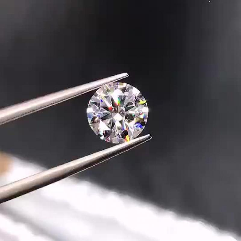 高净度圆形钻石裸钻, 1.00克拉 H色 VVS1净度