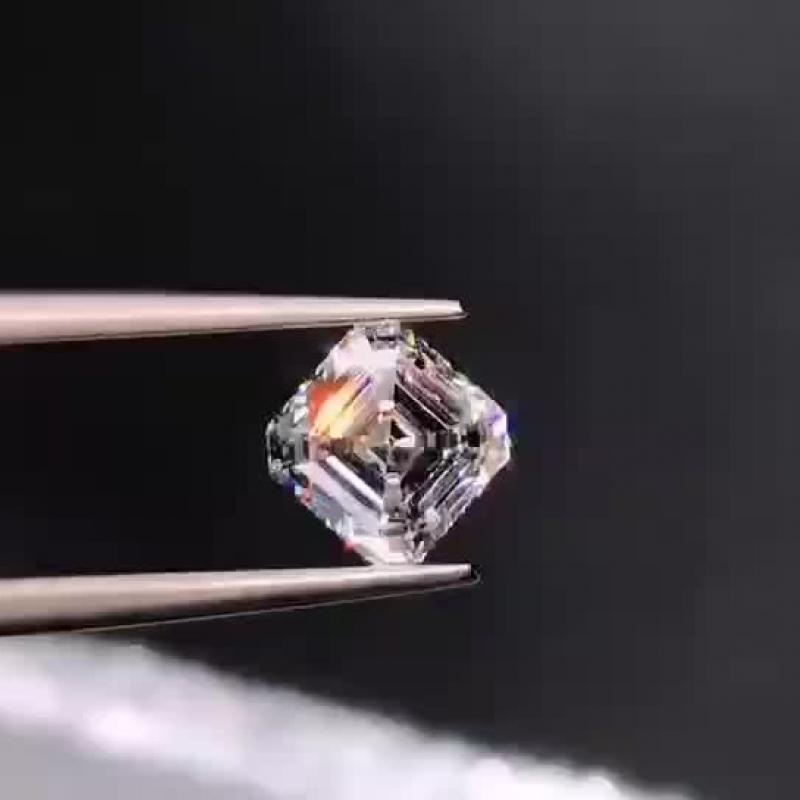 阿斯切形天然钻石裸钻,1.01克拉 E色 VS1净度
