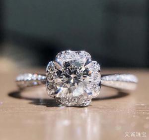 50分的钻石有多大,0.5克拉钻戒吊坠大小尺寸是多少