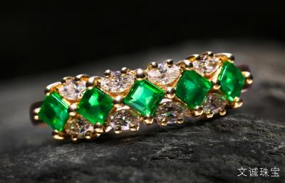 祖母绿宝石与铬透辉石、沙弗莱石、绿碧玺、磷灰石、翡翠的区别和鉴定
