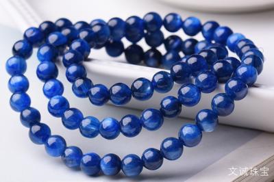 500元价格蓝晶石手链品质质量,真假鉴别