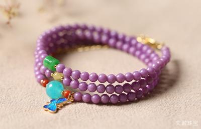 佩戴紫云母石的好处作用,戴紫云母的手串吊坠好处有哪些?