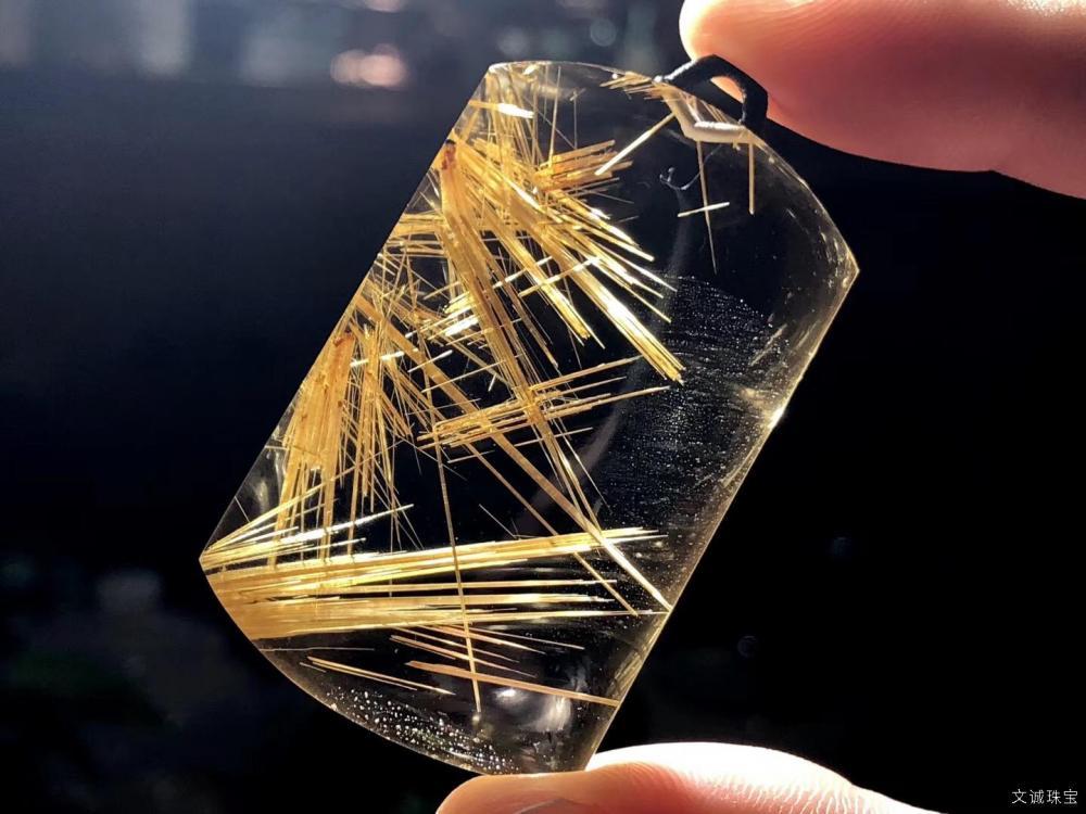 天然钛晶价格_天然钛晶的功效与作用,钛晶真假鉴别方法_文诚珠宝!